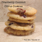 Cran Citrus Coconut cookies