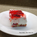 Straw Jell Cheesecake Bars