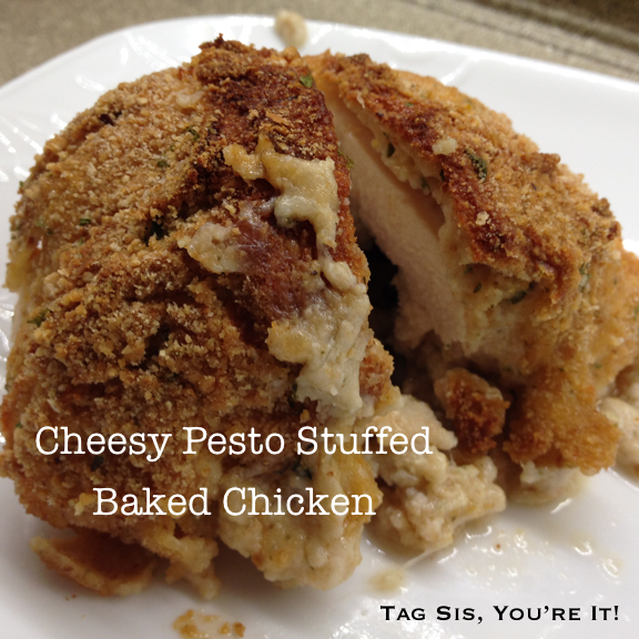 Chessy Pesto Stuffed Baked Chicken