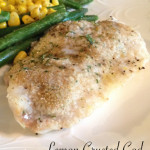 Lemon Butter Crusted Cod
