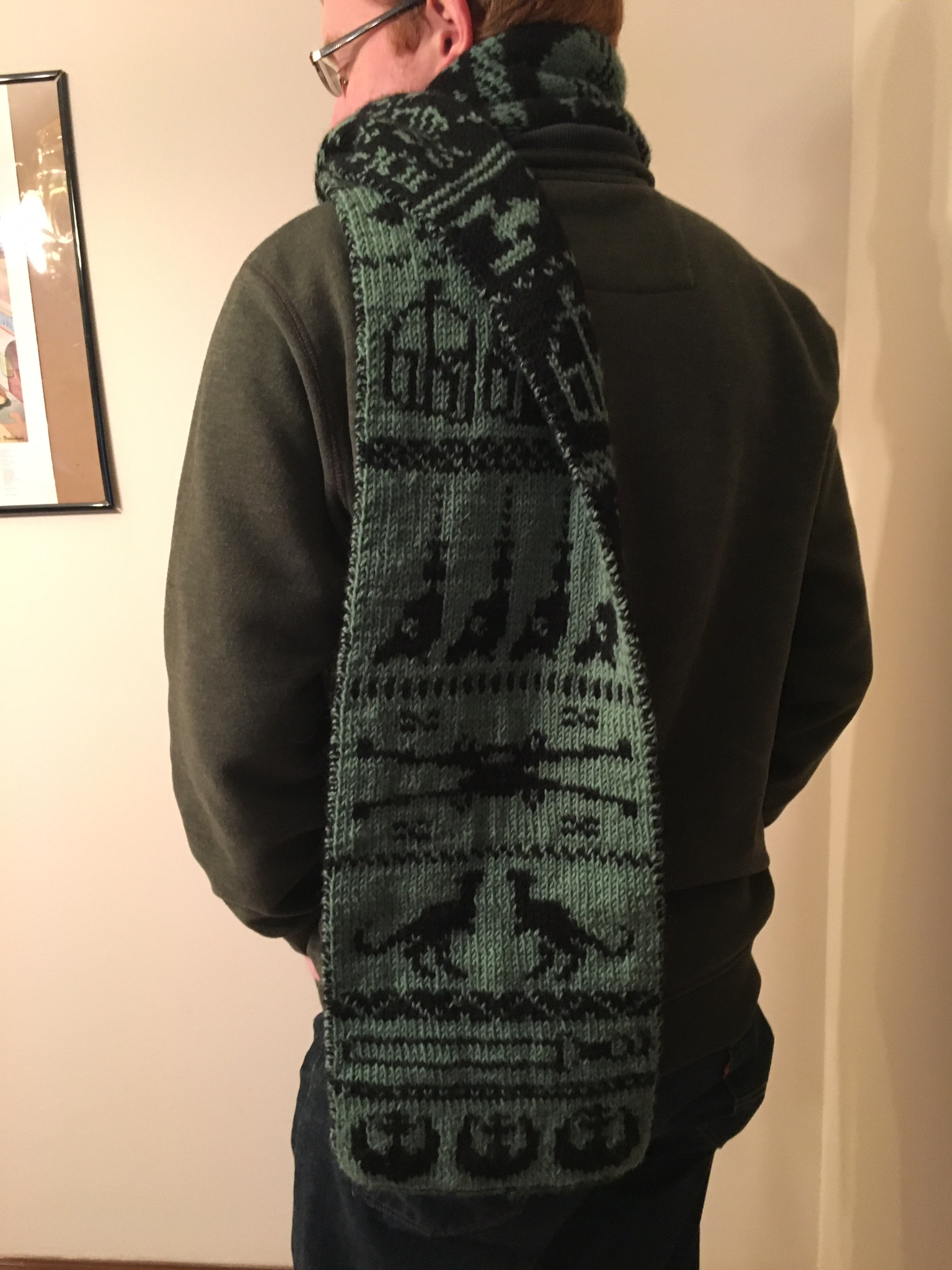Star Wars Scarf and Learning to Double Knit Tag Sis, Youre It!