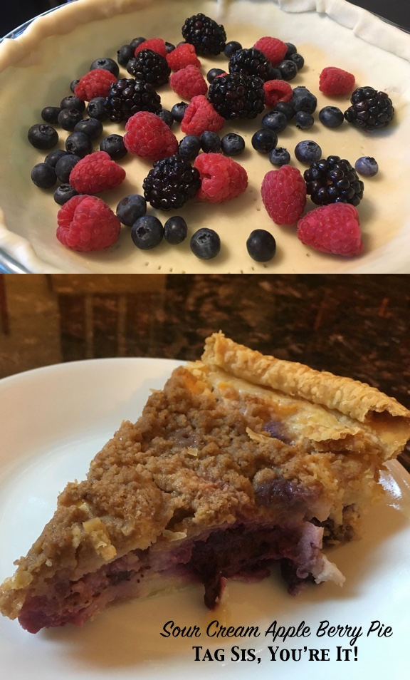 Sour Cream Apple Berry Pie
