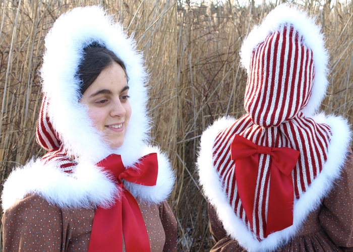 Knitted Opera or Traveling Hood | Tag Sis, You\'re It!