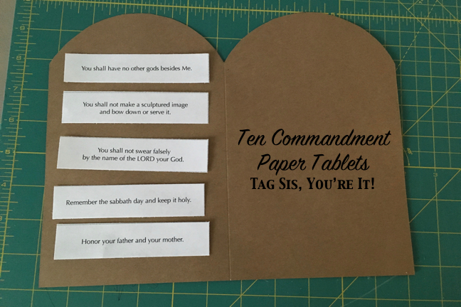 picture regarding Printable Ten Commandments Tablets named 10 Commandment Paper Supplements Tag Sis, Youre It!